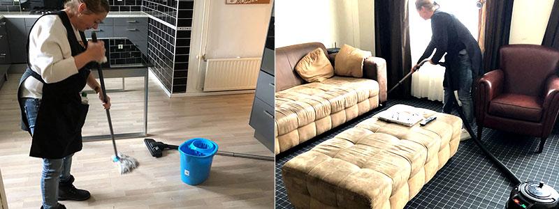 schoonmaken woonkamer en keuken